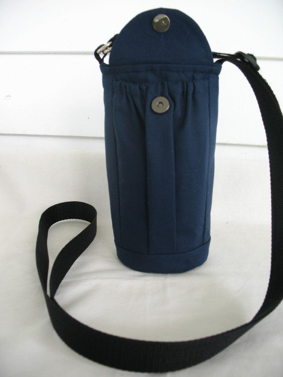 bottle carrier cross body pouch adjustable Merino cord walking flask caddy exercise accessory Water Bottle Holder