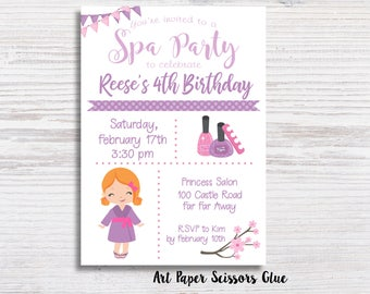 girl birthday invite etsy