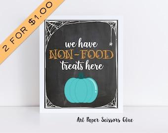 2 for 1.00 Teal Pumpkin Instant Download Digital Print