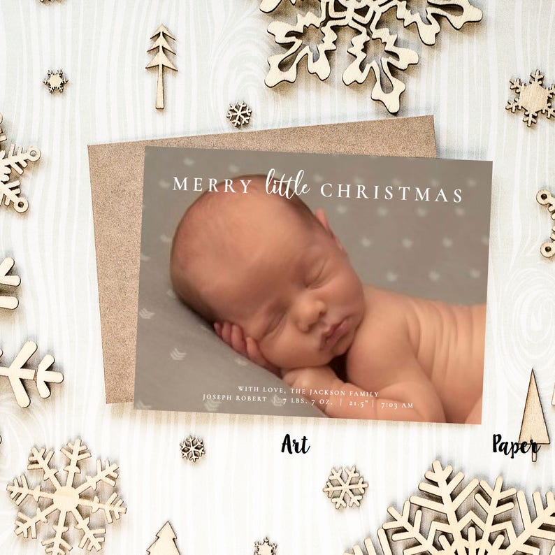 The Jackson 5 Have Yourself A Merry Little Christmas.5 X 7 Digital Or Print Merry Little Christmas Card Photo Christmas Greeting Card Birth Announcement Baby S First Christmas Free Shipping