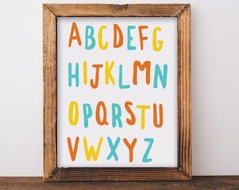 ABC Wall Art, Nursery Wall Art, Alphabet Letters, Alphabet Prints, ABC Print, ABC Wall Decal, Nursery Decor, Nursery Prints, Nursery Letters