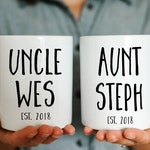 Personalized Aunt and Uncle Mug | Uncle Mug | Custom Uncle Mug | Aunt and Uncle Gift | Aunt and Uncle Mugs | New Uncle Gift | New Aunt Gift