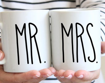 Couple Gift, Mr and Mrs Mugs, Engagement Gift, Couples Mugs, Newlywed Gift, Coffee Mug, Mugs, Wedding Gift, Bride Gift, Bridal Shower Gift