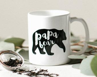 Papa, Father's Day Mug, Father's Day Gift, Father's Day, New Dad, Papa Bear, Husband Gift, Gift for Him, Dad Mug, Grandpa Gift, Grandpa Mug