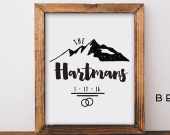 Wedding Gift, Custom Wedding Gift, Newlywed Gift, Shower Gift, Adventure Print, Wedding Sign, Custom Wedding Sign, Anniversary Gift