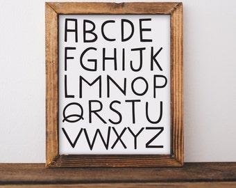 Digital Download, ABC Wall Art, Nursery Wall Art, Alphabet Letters, Alphabet Prints, ABC Print, Nursery Decor, Nursery Prints