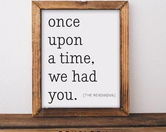 Printable, Nursery Wall Art, Nursery Printable, Once Upon a Time, Woodland Nursery, Nursery Decor, Baby boy nursery, Baby Girl Nursery