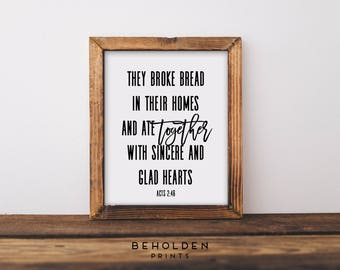 Scripture Print, Hostess Gift, Housewarming Gift, Thanksgiving Printable, Hospitality, Print, Scripture, Faith Print, Inspirational Print,