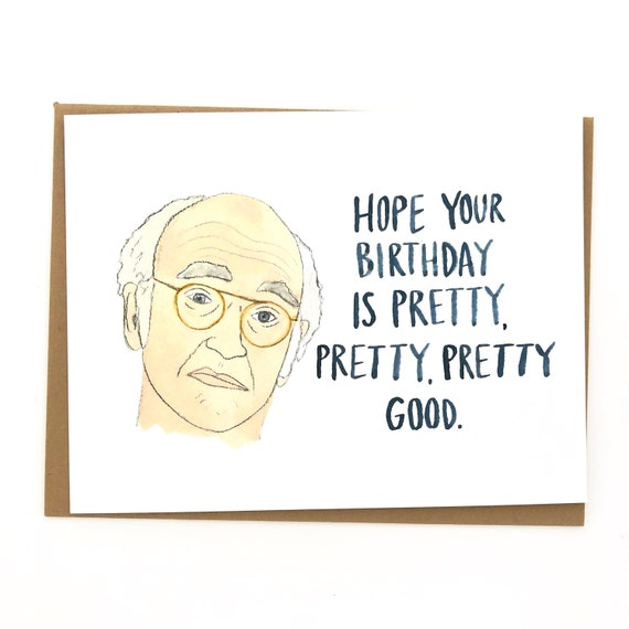 Curb Your Enthusiasm Birthday Card Etsy