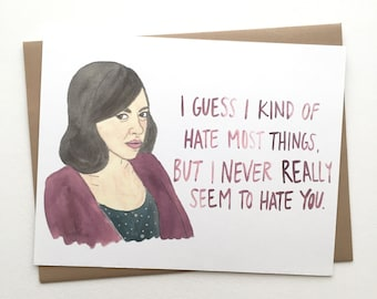 Parks and Rec Card// April Ludgate Love