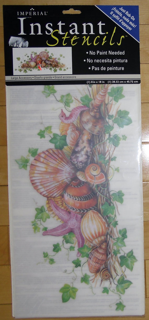 Stencils Instant Rub On Shells By Imperial Home Decor Group Etsy