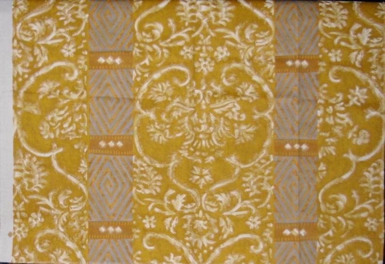 Arte Design Palmyra in Gold White and Grey Designer Fabric Discontinued Sample