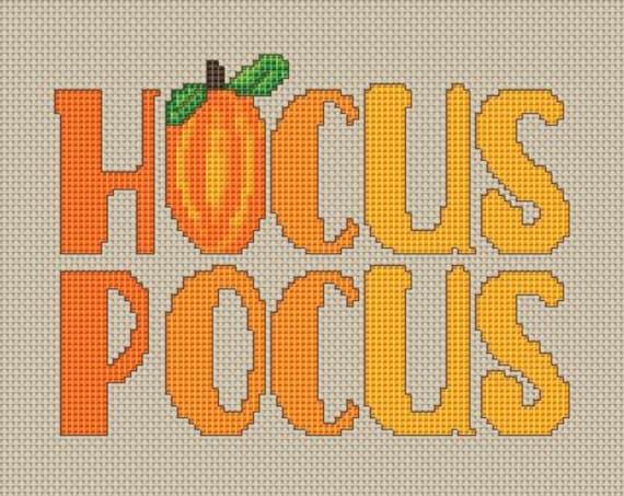 Cross Stitch Pattern Hocus Pocus Instant Download PdF