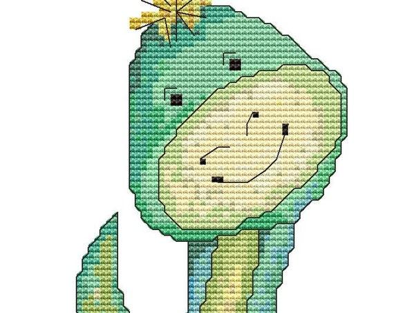 Cross Stitch Pattern Baby Dinosaur Instant Download PDF