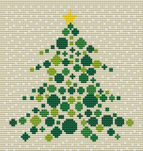 Cross Stitch Pattern Orb Ornament Tree Instant Download PDF