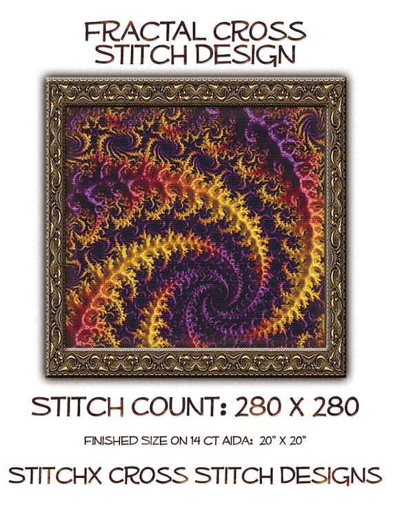Fractal Cross Stitch Pattern 4495 Patterns Instant Download pdf Cross Stitch Design