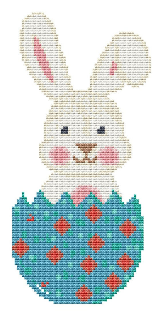 Cross Stitch Pattern Cute Easter Bunny  Instant Download PDF