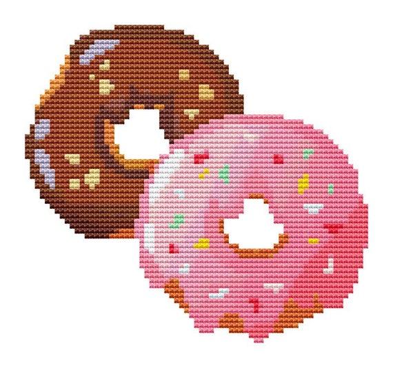 Cross Stitch Pattern Donuts Instant Download PDF
