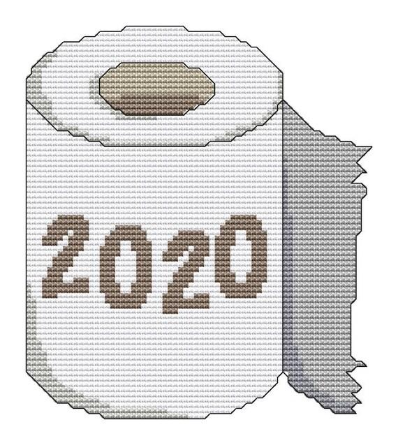 Cross Stitch Pattern Toilet Paper 2020 Instant Download PDF