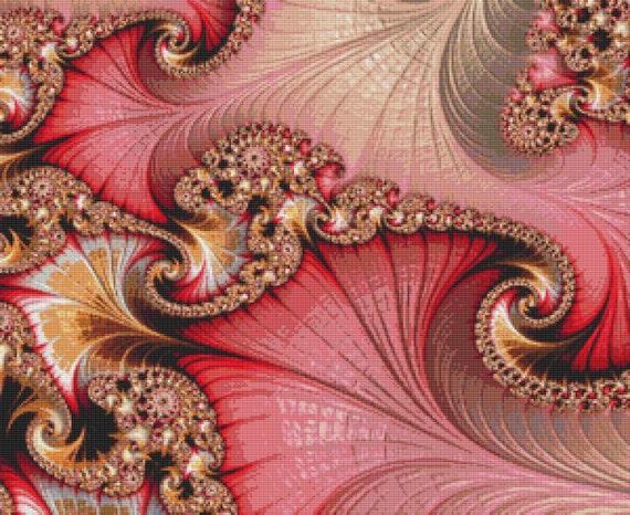 Fractal Cross Stitch Pattern 160 Patterns Instant Download pdf Cross Stitch Design
