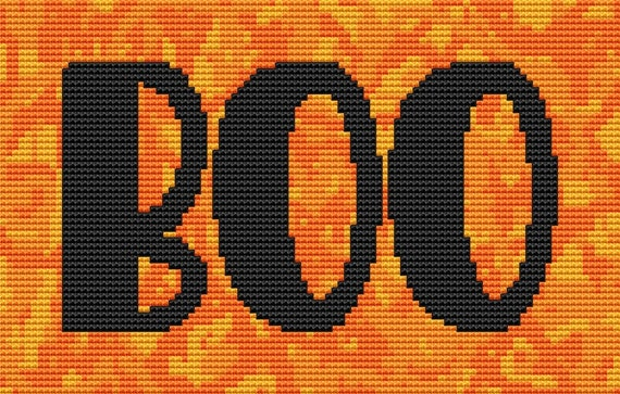 Cross Stitch Pattern Boo 2 Instant Download PdF