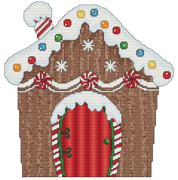 Cross Stitch Pattern Gingerbread House Instant Download PDF