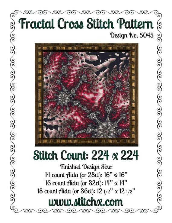 Fractal Cross Stitch Pattern 5045 Modern Cross Stitch Patterns Instant Download pdf Cross Stitch Design