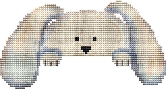 Cross Stitch Pattern Peeking Rabbit Instant Download PDF