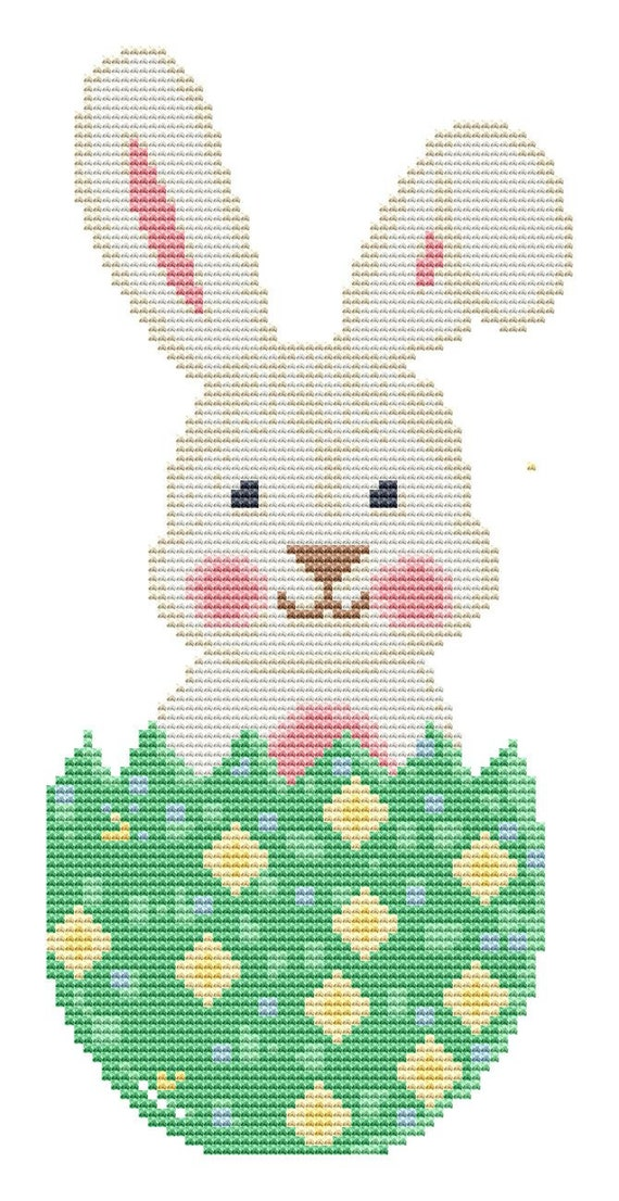 Cross Stitch Pattern Easter Bunny 3 Instant Download PDF