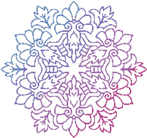 Cross Stitch Pattern Regal Mandala Instant Download PDF
