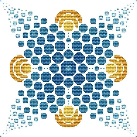 Cross Stitch Pattern Dot Mandala 2 Instant Download PDF