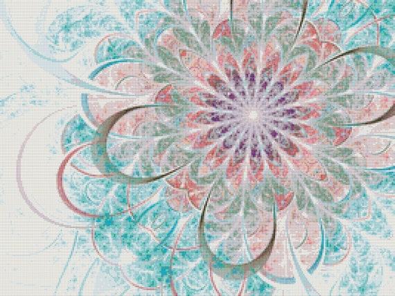 Cross Stitch Pattern - Pastel Pastimes Fractal - Instant Download PDF