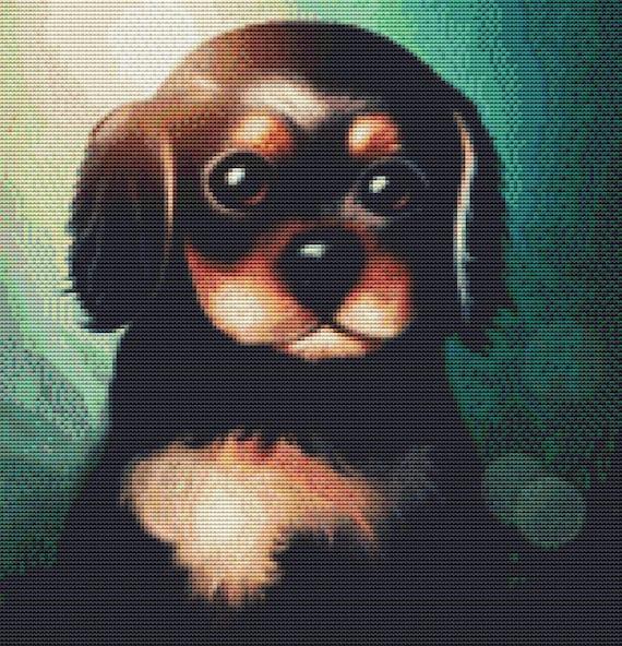 Cross Stitch Pattern - King Charles Puppy - Instant Download PDF