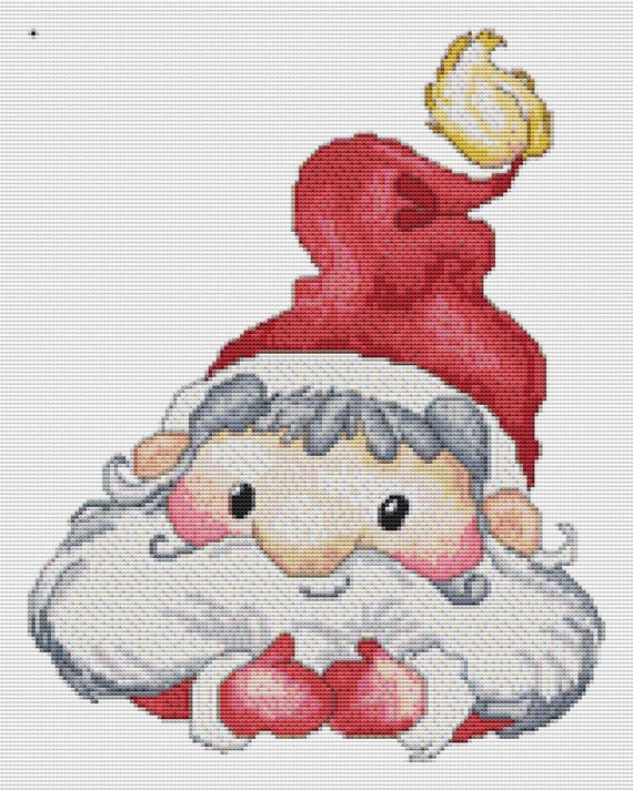Cross Stitch Pattern Another Cute Santa Instant Download PDF