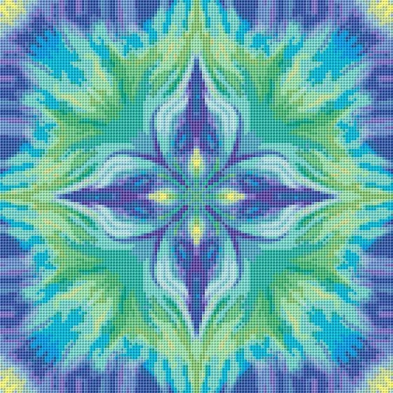 Cross Stitch Pattern Purple Fantasy Instant Download PdF