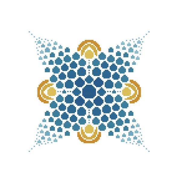 Cross Stitch Pattern Dot Mandala 1 Instant Download PDF