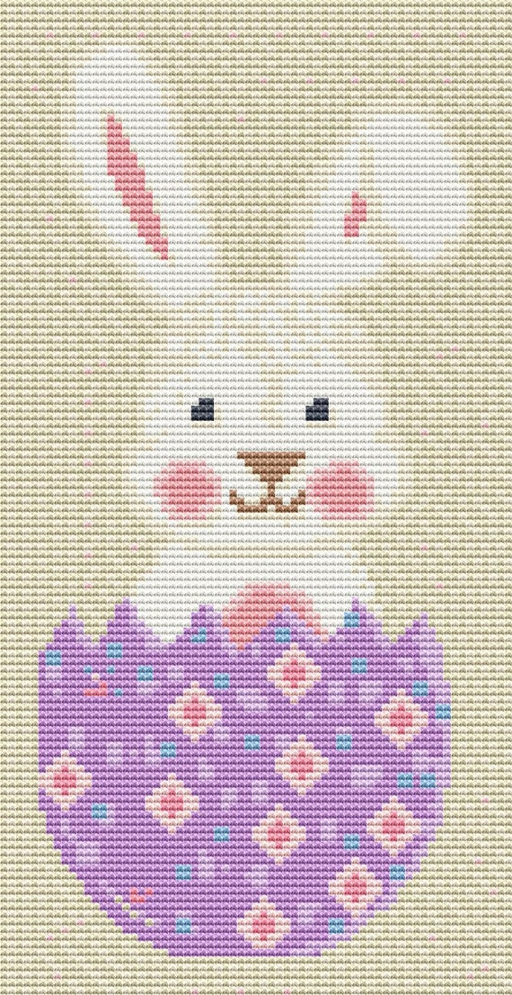 Cross Stitch Pattern Easter Bunny 2 Instant Download PDF