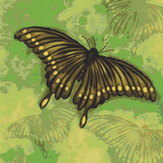 Cross Stitch Pattern Painted Butterflies Instant Download PdF