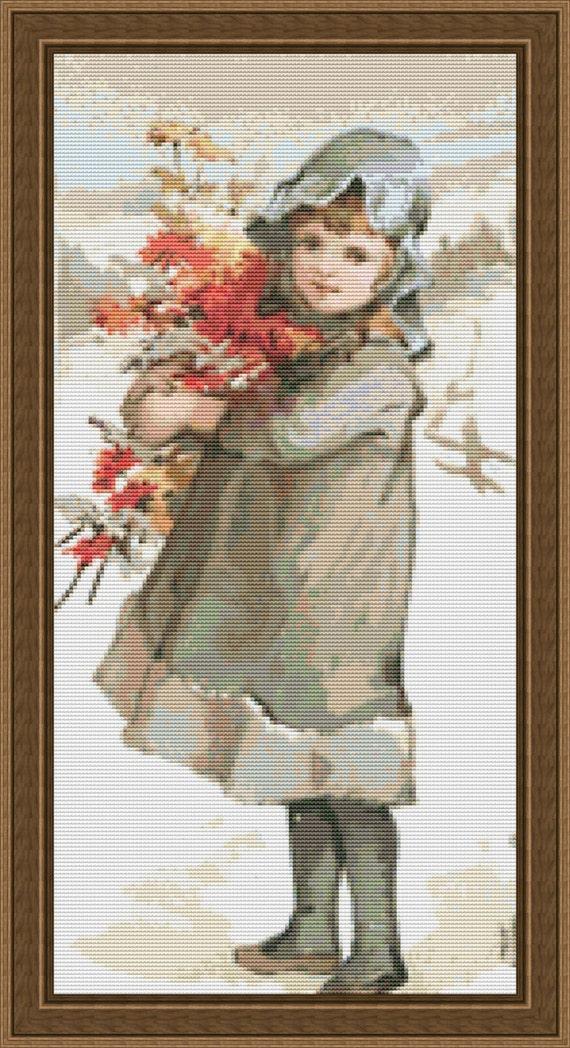 Cross Stitch Pattern Vintage Christmas No. 9 Elegant Holiday Art Design Instant Download pdf