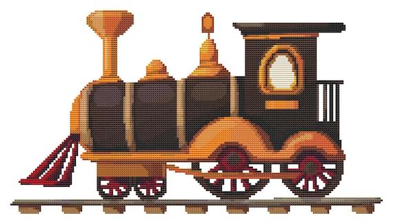 Cross Stitch Pattern Toy Train Instant Download PDF