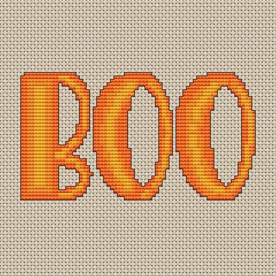 Cross Stitch Pattern Boo Instant Download PdF