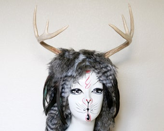 Witch of the Woods real antler costume headdress