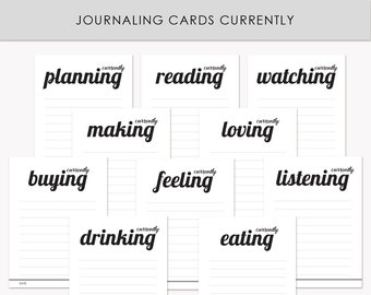 Printable Journaling Cards Currently for Scrapbook and Project Life INSTANT DOWNLOAD