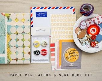 Travel Mini Journal / Album & Scrapbook Kit