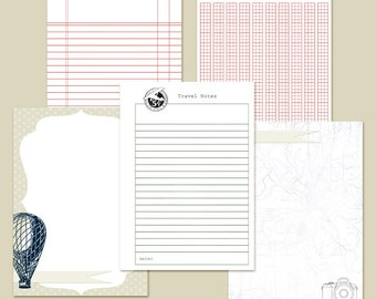 """5x7"""" Planner Inserts Filofax Inserts Travel Set 1 Printable INSTANT DOWNLOAD"""