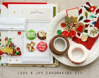 Love & Joy DIY Cardmaking Kit for Christmas