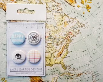 Badges Picture Perfect - Flair Buttons for Scrapbooking