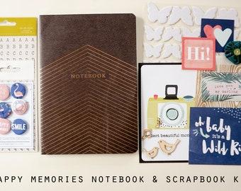 Happy Memories Notebook & Scrapbook Kit