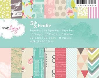 """Dear Lizzy 5th & Frolic 6x6"""" Paper Pad"""