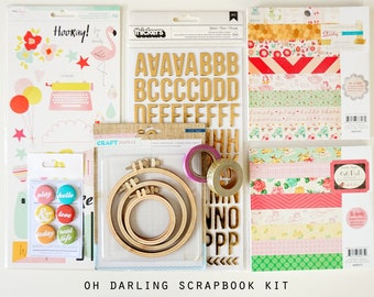 Oh Darling Girl's Scrapbook  and Cardmaking Kit